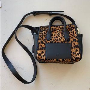 JCrew pony hair cheetah print mini crossbody purse